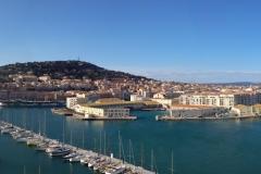 A partir du phare, aperçu de la ville de Sète